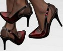 Is it alright to wear sheer, jet black pantyhose with closed toe slingback or a backless style shoes?