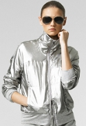 Can I wear a silver jacket with cream color pants?