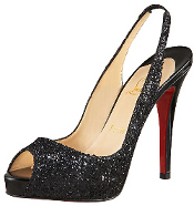 What color & style of shoes & hosiery can I wear with a black CK dress?