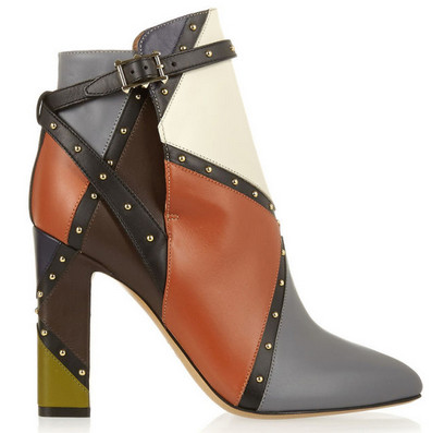 Patchwork Ankle Shoe