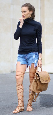 What can I wear with gladiator sandals?