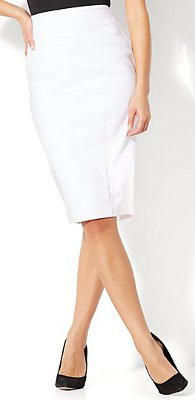 What color pencil skirt can I wear with an orchid color, short sleeve, puff blouse?