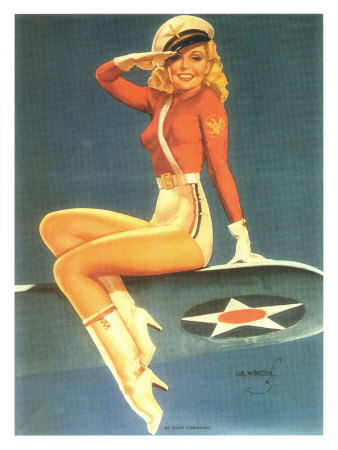 Army Air-Force Pin-Up-Girl Poster
