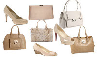What color bag, shoes & fascinator should I wear with a navy blue & red dress suit?