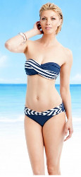 5 HOT Swimwear Trends - striped bandeau suit