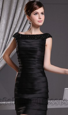 Can I wear a beaded sheath dress to a wedding if my husband is not wearing a tux?