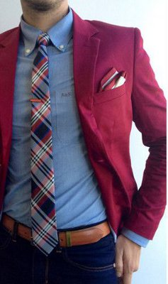 What is the best shirt color to wear with a burgundy blazer?