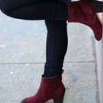 Can I wear black or burgundy tights with burgundy booties