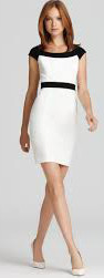 Can I wear nude color shoes with a cream & black dress?