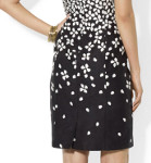 What kind of jewelry would you wear with this cotton jacquard sheath dress?