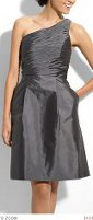 Does a dress in a taffeta fabric give you a slimmer look?