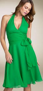 Can I wear satin halter style dress to a July wedding?