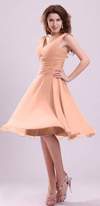 What color shoes can I wear with a peach color dress?