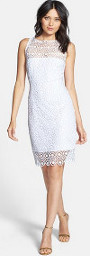 How can I style a white lace dress?