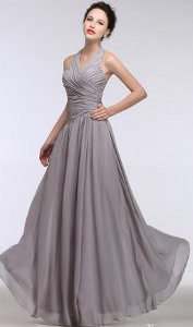 How can I accessorize a gray gown for a formal event?