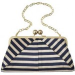 Ted Baker stripped clutch bag