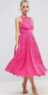 Can I wear a hot pink dress to a black tie wedding?