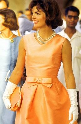 jackie-kennedy-apricot-dress