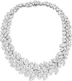 Can you wear a diamond necklace & bracelet with a taupe color gown?