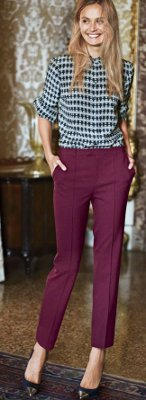 What color top can I wear with maroon pants?