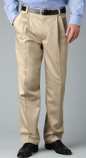 """Khaki pants and a button-down shirt are a smart choice for casual Friday at the office. For a day spent working around the house, stay comfortable in khakis, a t-shirt, and sneakers. Boots and khakis come together for a """"look good anywhere"""" combination."""
