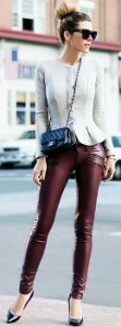 Can I wear burgundy suede pants to a dinner party?