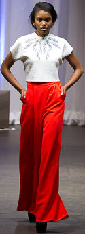 Are wide-leg trousers & a cropped top appropriate for a bridal shower luncheon?