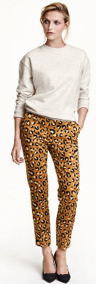 What can I wear with leopard print pants?