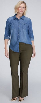 Do plus size women look slimmer in straight leg or flared leg pants?