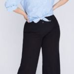 Do plus size women look slimmer in straight leg or flared leg pants?