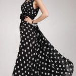 Can I wear a black & white polka dot chiffon dress to a formal night on a cruise?
