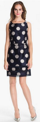 Is a polka dot dress appropriate for a wedding guest?