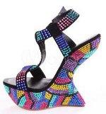 Can I wear multi color rhinestone, Jimmy Choo, sandals with a plain black dress?