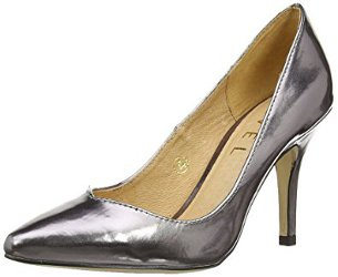 What color shoes go with a charcoal gray lace dress?