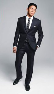 What type of clothing flatters short males?