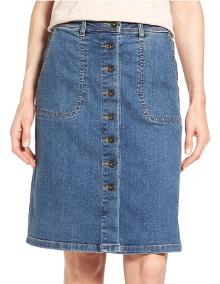 Will a high-quality denim skirt be more resistant to stiffness & wrinkles & hold its shape?