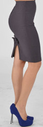 What color skirt would look best with a slate gray linen blouse?