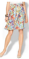 Can I wear a tea length skirt with a large floral pattern?