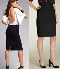 What is the proper skirt length in relation to your knees?