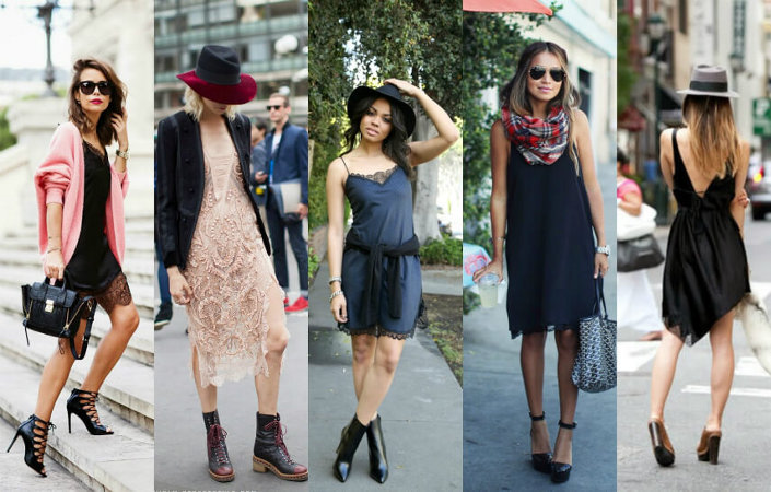 How can I style a slip dress?