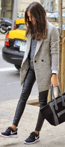 Can sneakers be worn with office appropriate clothes?
