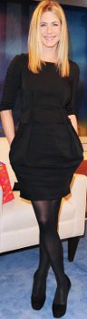 Is black hosiery current if one chooses not to go bare legged with a LBD?