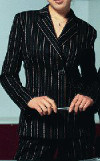 Is it out of style to wear a black pinstipe pant suit?