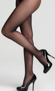 Can I wear sheer, black tights with a short black, shimmery dress & peep toe black velvet shoes with diamantes?
