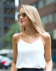 Can I wear a white cami under a jacket with a plunging neckline?
