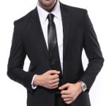 ar a light chocolate brown or charcoal gray suit to formal wedding?