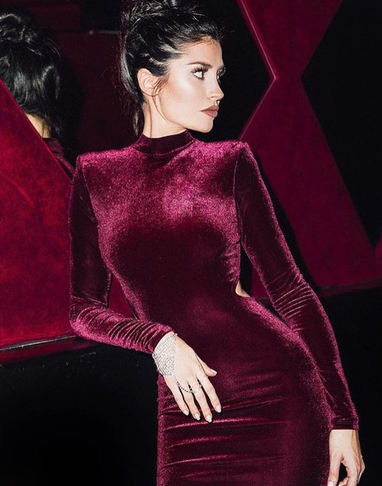 The velvet trend a must!